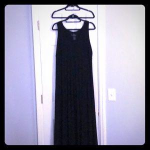 XL formal empire waist dress Black